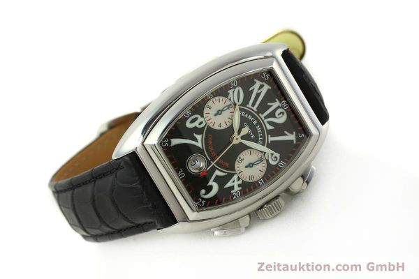 Used luxury watch Franck Muller Conquistador chronograph steel automatic Kal. 1185 Co2  | 151328 03