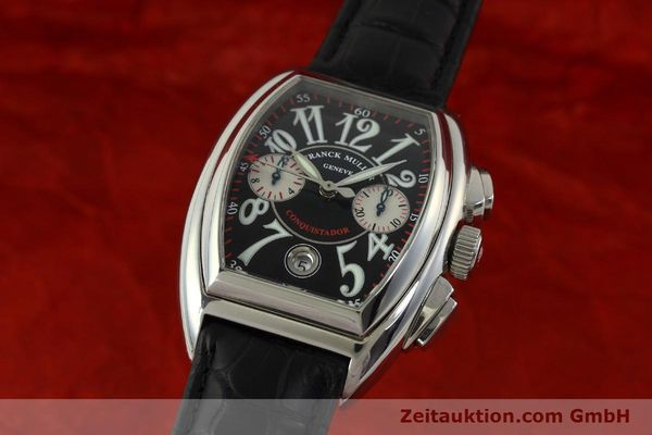 Used luxury watch Franck Muller Conquistador chronograph steel automatic Kal. 1185 Co2  | 151328 04