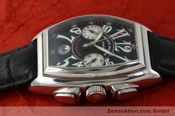 Used luxury watch Franck Muller Conquistador chronograph steel automatic Kal. 1185 Co2  | 151328 05