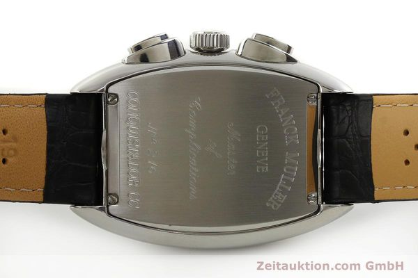Used luxury watch Franck Muller Conquistador chronograph steel automatic Kal. 1185 Co2  | 151328 09