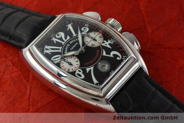 Used luxury watch Franck Muller Conquistador chronograph steel automatic Kal. 1185 Co2  | 151328 12