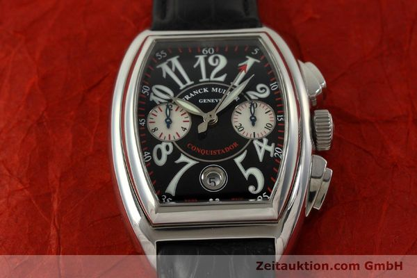Used luxury watch Franck Muller Conquistador chronograph steel automatic Kal. 1185 Co2  | 151328 13