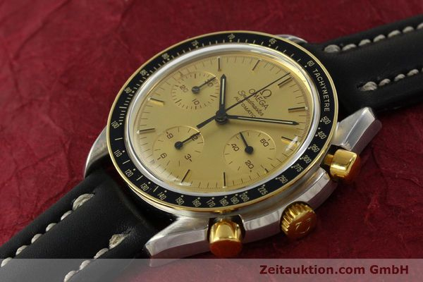 Used luxury watch Omega Speedmaster chronograph steel / gold automatic Kal. 1140  | 151334 01