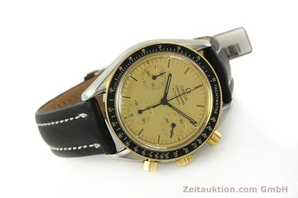 Used luxury watch Omega Speedmaster chronograph steel / gold automatic Kal. 1140  | 151334 03