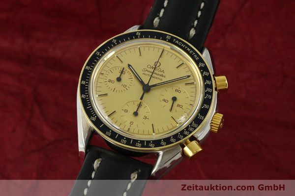 Used luxury watch Omega Speedmaster chronograph steel / gold automatic Kal. 1140  | 151334 04