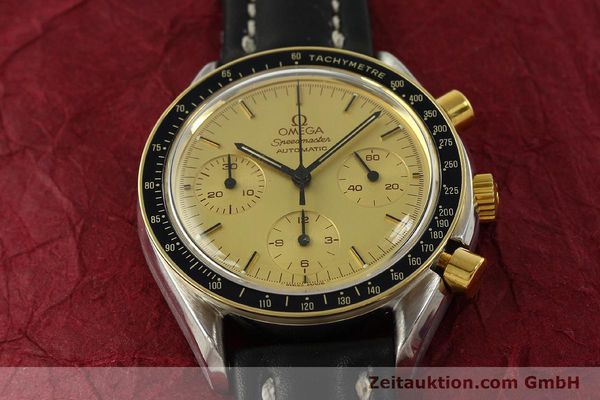 Used luxury watch Omega Speedmaster chronograph steel / gold automatic Kal. 1140  | 151334 14