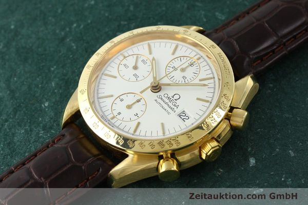 Used luxury watch Omega Speedmaster chronograph 18 ct gold automatic Kal. 1152 Ref. 36112002  | 151336 01