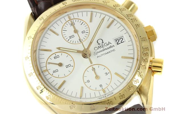 Used luxury watch Omega Speedmaster chronograph 18 ct gold automatic Kal. 1152 Ref. 36112002  | 151336 02
