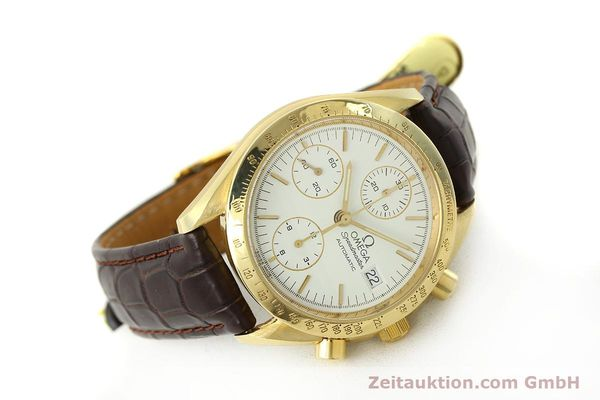 Used luxury watch Omega Speedmaster chronograph 18 ct gold automatic Kal. 1152 Ref. 36112002  | 151336 03