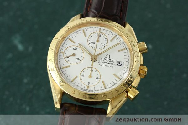 Used luxury watch Omega Speedmaster chronograph 18 ct gold automatic Kal. 1152 Ref. 36112002  | 151336 04