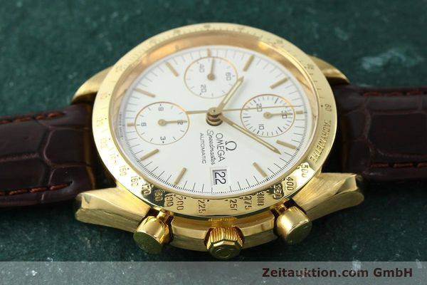 Used luxury watch Omega Speedmaster chronograph 18 ct gold automatic Kal. 1152 Ref. 36112002  | 151336 05