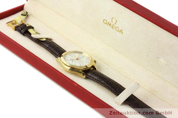 Used luxury watch Omega Speedmaster chronograph 18 ct gold automatic Kal. 1152 Ref. 36112002  | 151336 07