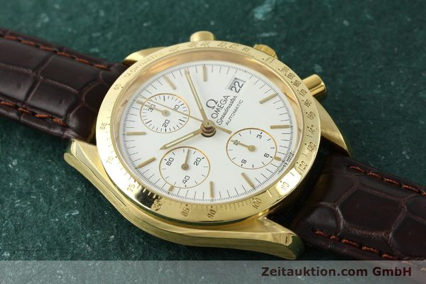 Used luxury watch Omega Speedmaster chronograph 18 ct gold automatic Kal. 1152 Ref. 36112002  | 151336 15