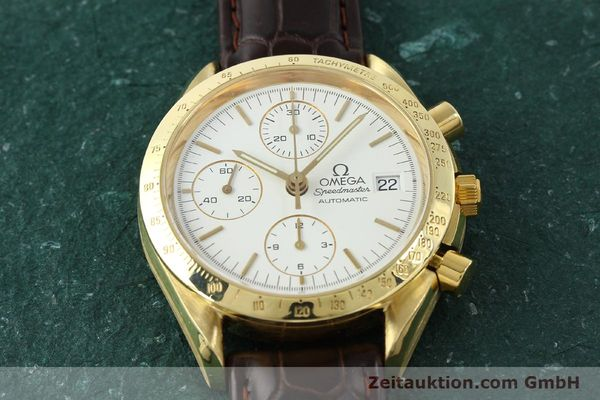 Used luxury watch Omega Speedmaster chronograph 18 ct gold automatic Kal. 1152 Ref. 36112002  | 151336 16