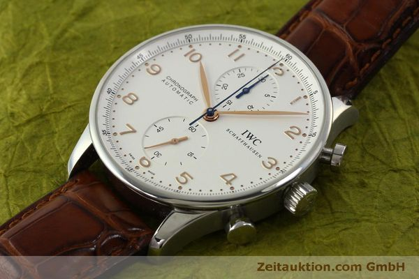 Used luxury watch IWC Portugieser chronograph steel automatic Kal. 79240 Ref. 3714  | 151368 01