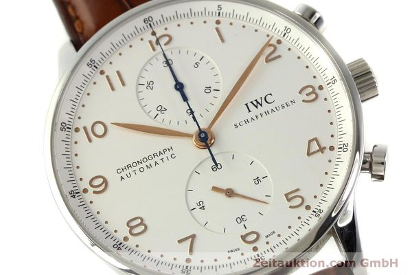 Used luxury watch IWC Portugieser chronograph steel automatic Kal. 79240 Ref. 3714  | 151368 02