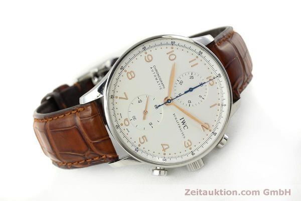 Used luxury watch IWC Portugieser chronograph steel automatic Kal. 79240 Ref. 3714  | 151368 03