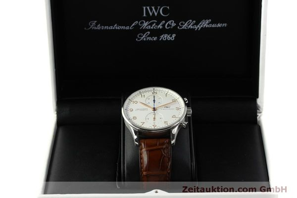 Used luxury watch IWC Portugieser chronograph steel automatic Kal. 79240 Ref. 3714  | 151368 07
