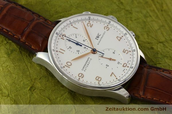 Used luxury watch IWC Portugieser chronograph steel automatic Kal. 79240 Ref. 3714  | 151368 17