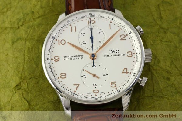 Used luxury watch IWC Portugieser chronograph steel automatic Kal. 79240 Ref. 3714  | 151368 18