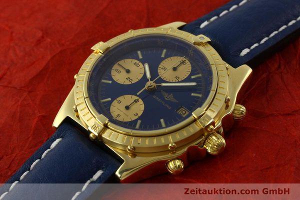Used luxury watch Breitling Chronomat chronograph 18 ct gold automatic Kal. Val. 7750 Ref. 81950  | 151376 01
