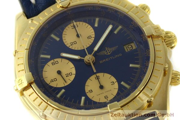 Used luxury watch Breitling Chronomat chronograph 18 ct gold automatic Kal. Val. 7750 Ref. 81950  | 151376 02