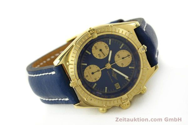 Used luxury watch Breitling Chronomat chronograph 18 ct gold automatic Kal. Val. 7750 Ref. 81950  | 151376 03