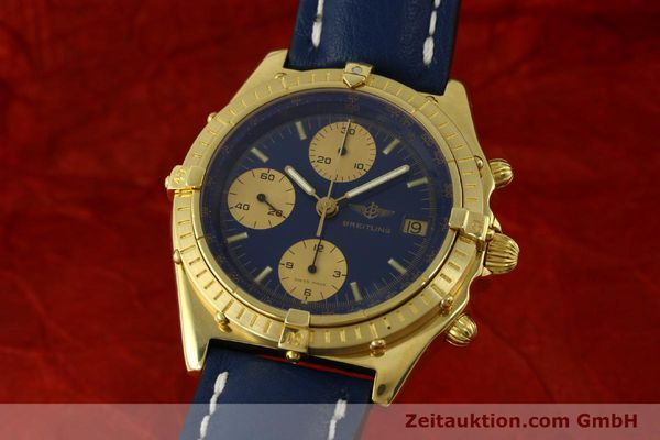 Used luxury watch Breitling Chronomat chronograph 18 ct gold automatic Kal. Val. 7750 Ref. 81950  | 151376 04