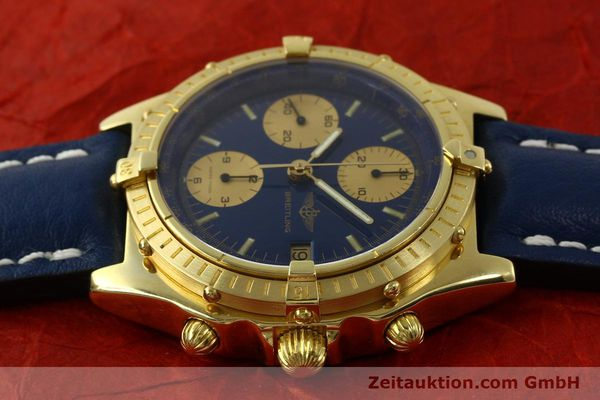 Used luxury watch Breitling Chronomat chronograph 18 ct gold automatic Kal. Val. 7750 Ref. 81950  | 151376 05