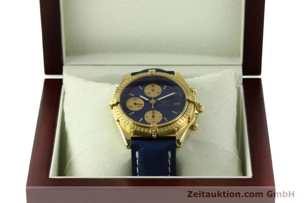 Used luxury watch Breitling Chronomat chronograph 18 ct gold automatic Kal. Val. 7750 Ref. 81950  | 151376 07