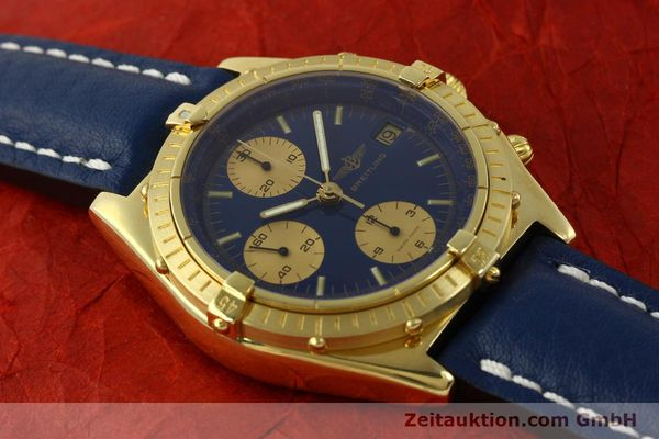 Used luxury watch Breitling Chronomat chronograph 18 ct gold automatic Kal. Val. 7750 Ref. 81950  | 151376 14