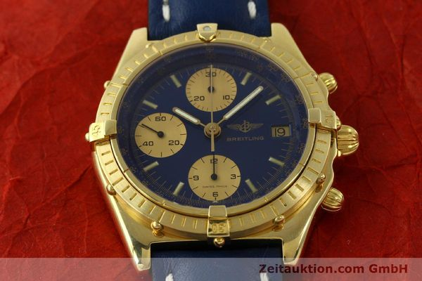 Used luxury watch Breitling Chronomat chronograph 18 ct gold automatic Kal. Val. 7750 Ref. 81950  | 151376 15