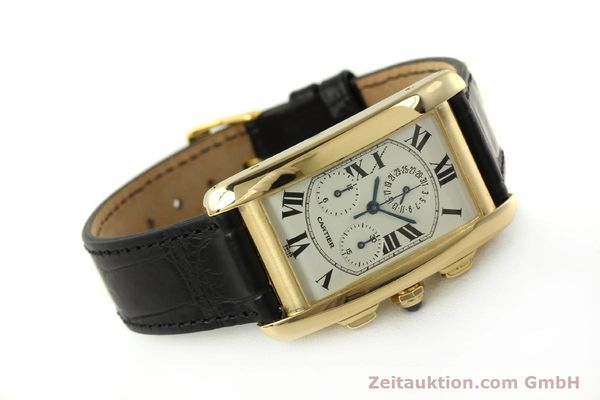 montre de luxe d occasion Cartier Tank chronographe or 18 ct quartz Kal. 212P  | 151390 03