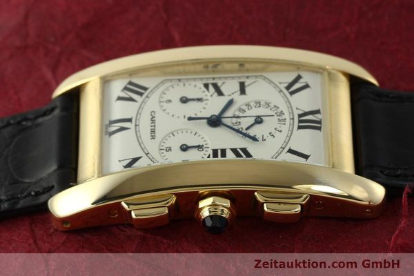 montre de luxe d occasion Cartier Tank chronographe or 18 ct quartz Kal. 212P  | 151390 05
