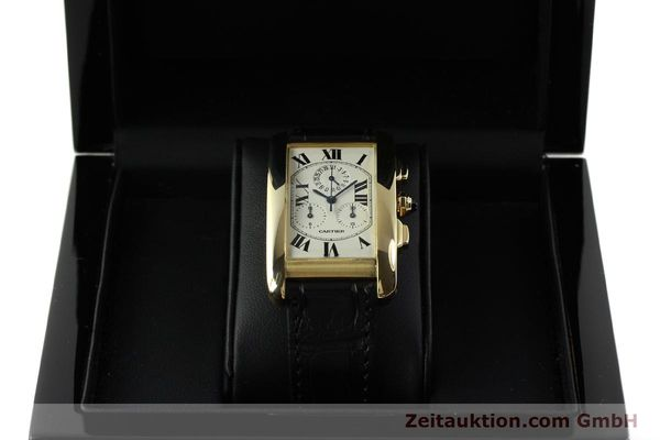 montre de luxe d occasion Cartier Tank chronographe or 18 ct quartz Kal. 212P  | 151390 07