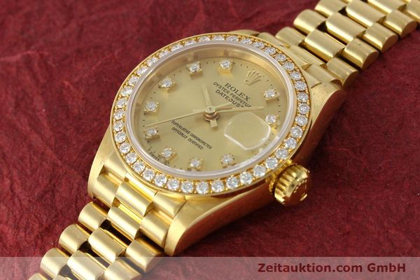 Used luxury watch Rolex Lady Datejust 18 ct gold automatic Kal. 2135 Ref. 69138  | 151392 01