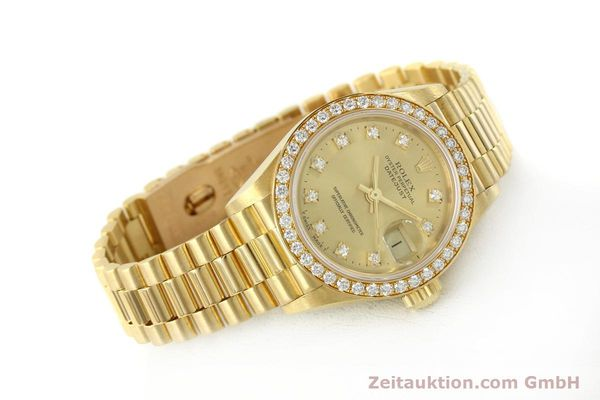 Used luxury watch Rolex Lady Datejust 18 ct gold automatic Kal. 2135 Ref. 69138  | 151392 03