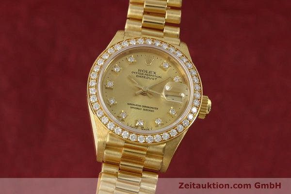 Used luxury watch Rolex Lady Datejust 18 ct gold automatic Kal. 2135 Ref. 69138  | 151392 04