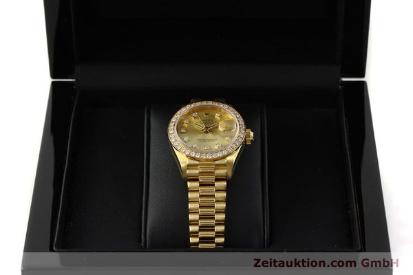 Used luxury watch Rolex Lady Datejust 18 ct gold automatic Kal. 2135 Ref. 69138  | 151392 07