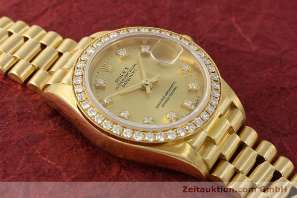 Used luxury watch Rolex Lady Datejust 18 ct gold automatic Kal. 2135 Ref. 69138  | 151392 15