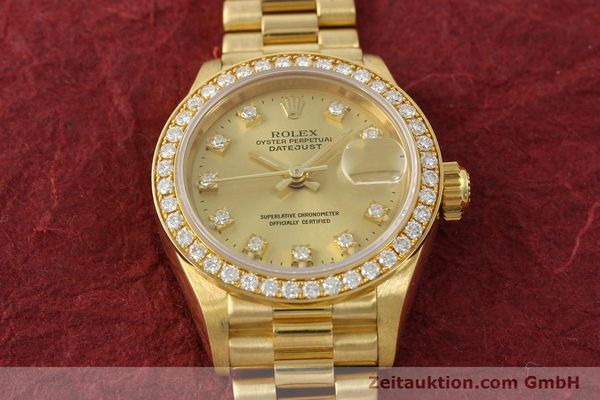 Used luxury watch Rolex Lady Datejust 18 ct gold automatic Kal. 2135 Ref. 69138  | 151392 16
