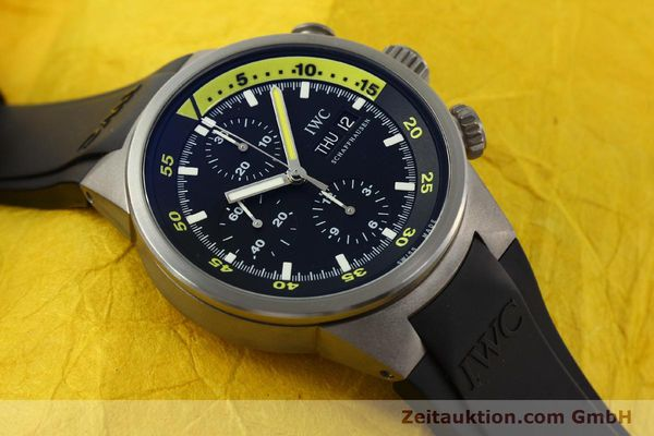 Used luxury watch IWC Aquatimer chronograph titanium automatic Kal. 79320 Ref. 3719  | 151394 15
