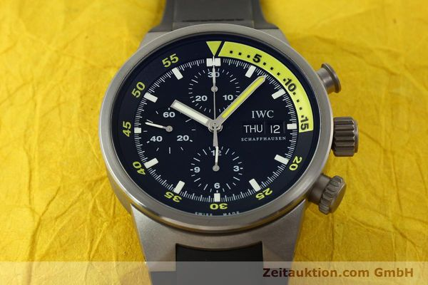 Used luxury watch IWC Aquatimer chronograph titanium automatic Kal. 79320 Ref. 3719  | 151394 16