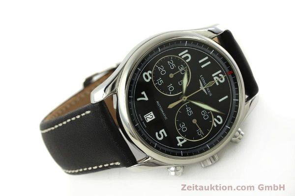 Used luxury watch Longines Avigation chronograph steel automatic Kal. L650.2 ETA 2894-2 Ref. L2.620.4  | 151398 03