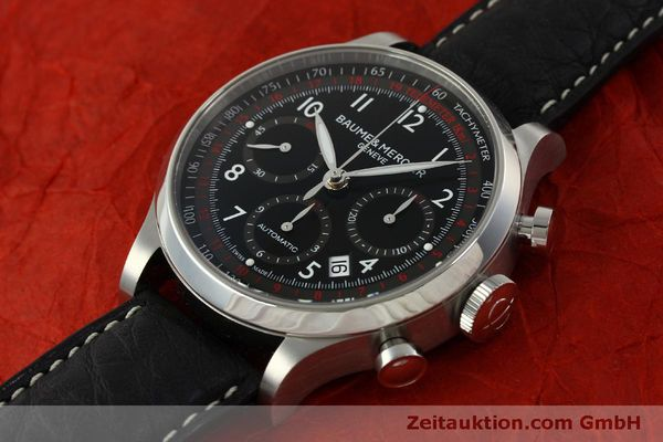 Used luxury watch Baume & Mercier Capeland chronograph steel automatic Kal. BM137753 Ref. 65687  | 151414 01
