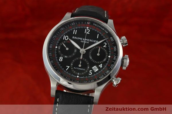 Used luxury watch Baume & Mercier Capeland chronograph steel automatic Kal. BM137753 Ref. 65687  | 151414 04