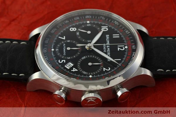 Used luxury watch Baume & Mercier Capeland chronograph steel automatic Kal. BM137753 Ref. 65687  | 151414 05