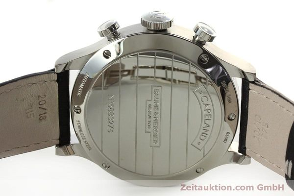 Used luxury watch Baume & Mercier Capeland chronograph steel automatic Kal. BM137753 Ref. 65687  | 151414 09