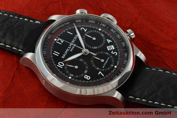 Used luxury watch Baume & Mercier Capeland chronograph steel automatic Kal. BM137753 Ref. 65687  | 151414 16