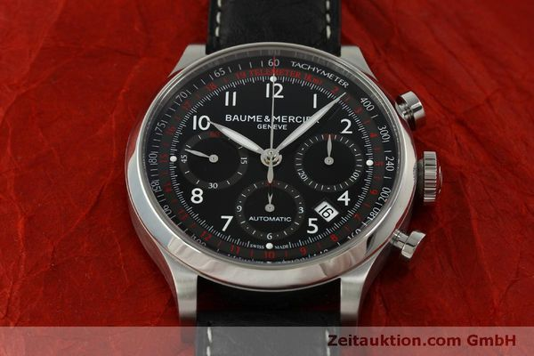 Used luxury watch Baume & Mercier Capeland chronograph steel automatic Kal. BM137753 Ref. 65687  | 151414 17